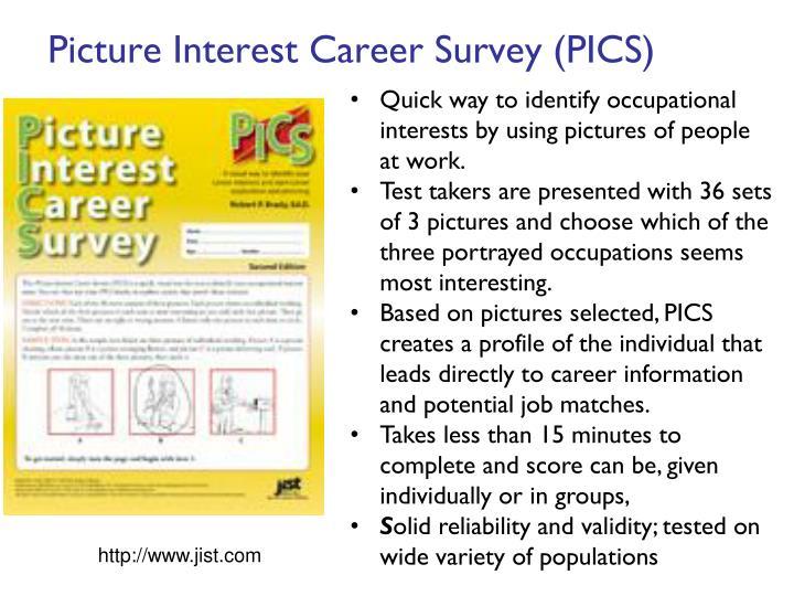 Picture Interest Career Survey (PICS)