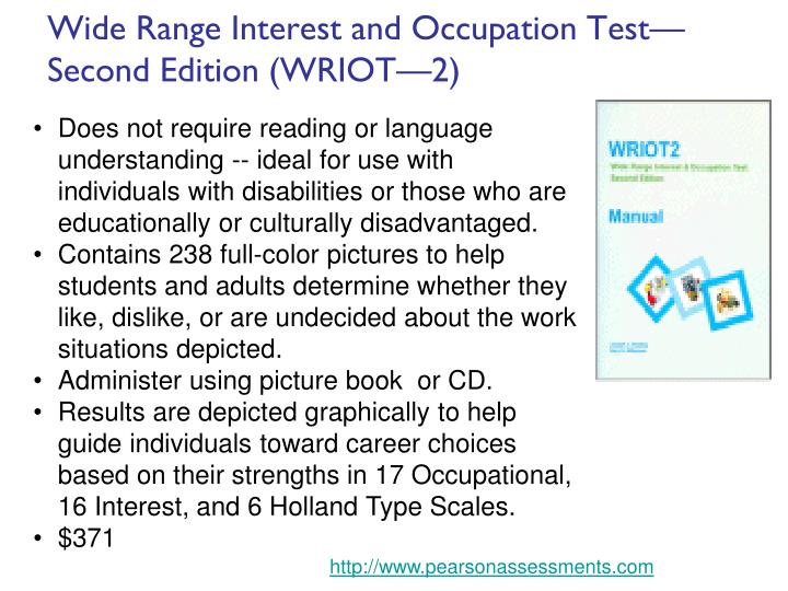 Wide Range Interest and Occupation Test—Second Edition (WRIOT—2)