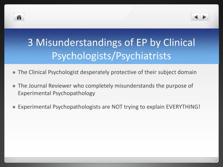 3 misunderstandings of ep by clinical psychologists psychiatrists