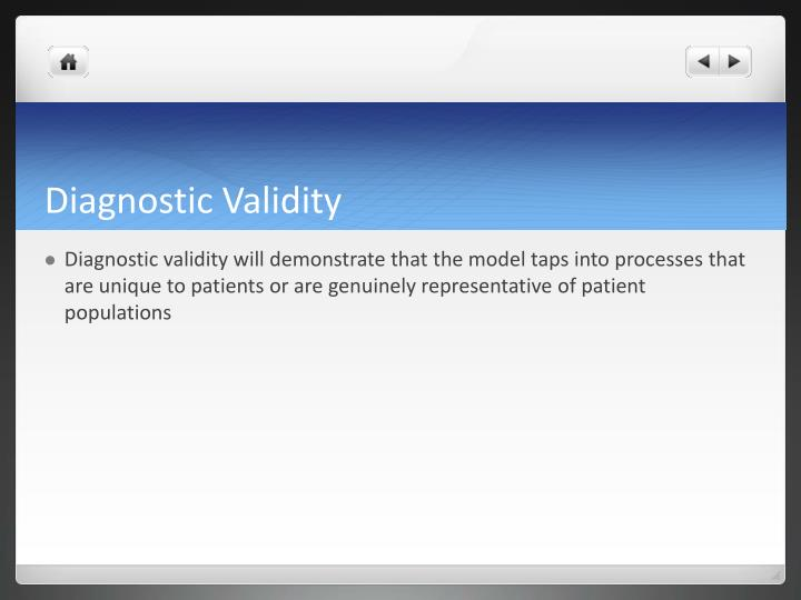 Diagnostic Validity