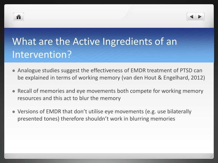 What are the Active Ingredients of an Intervention?
