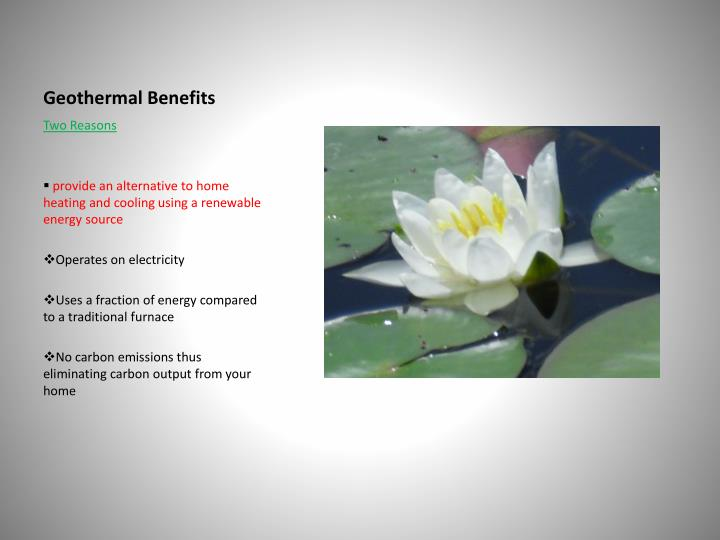 Geothermal Benefits