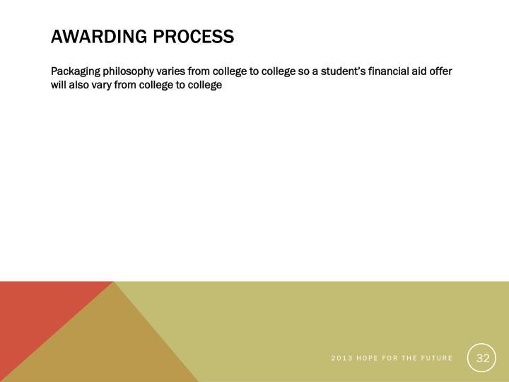 Awarding Process