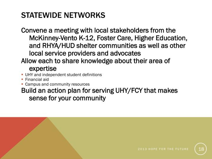 Statewide Networks