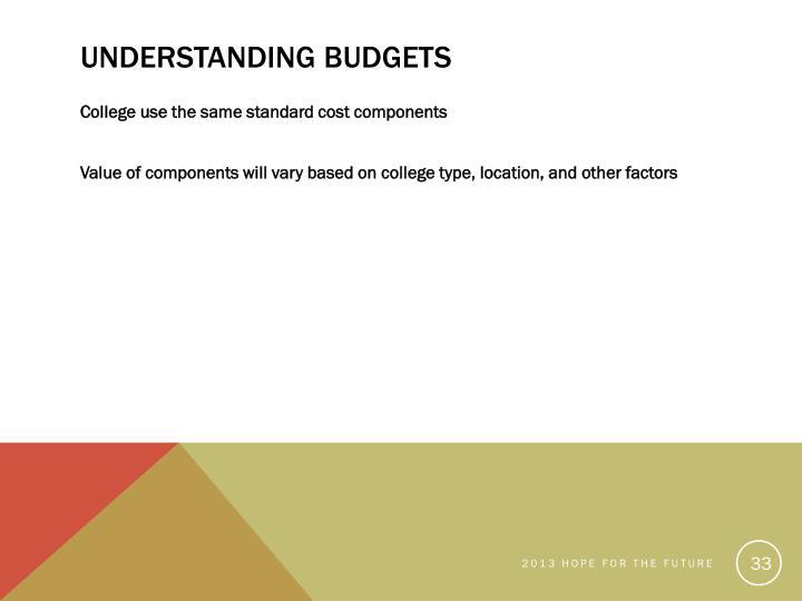 Understanding Budgets