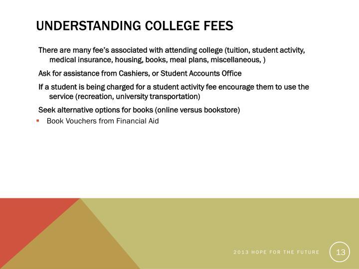 Understanding College Fees