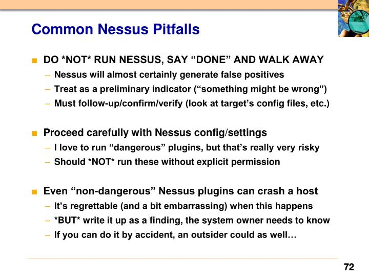 Common Nessus Pitfalls