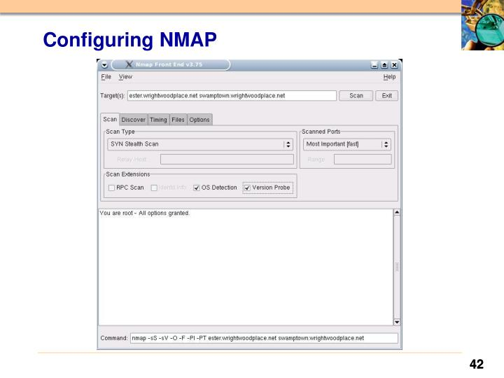 Configuring NMAP