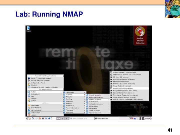 Lab: Running NMAP