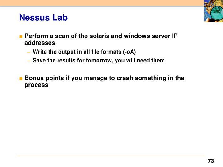 Nessus Lab