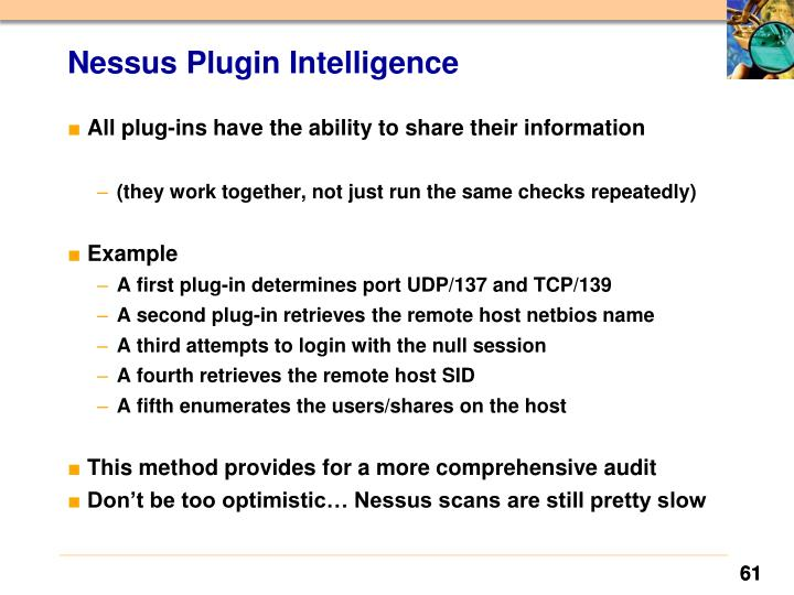 Nessus Plugin Intelligence