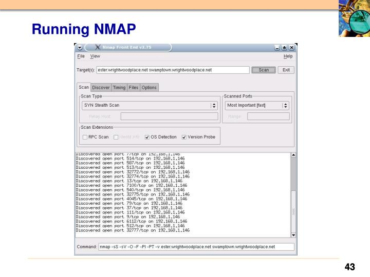 Running NMAP