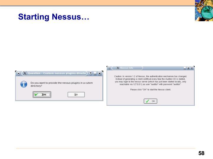Starting Nessus…