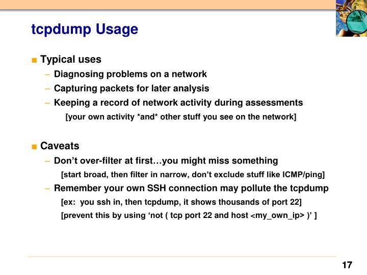 tcpdump Usage
