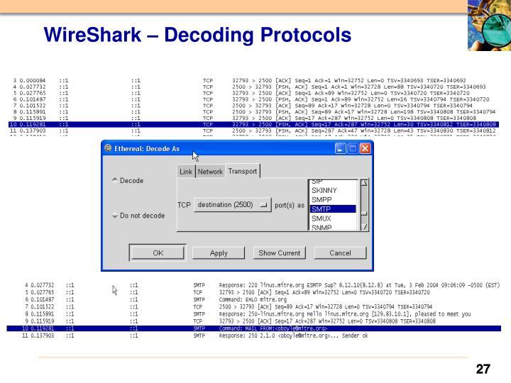 WireShark – Decoding Protocols