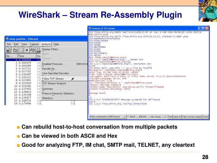 WireShark – Stream Re-Assembly Plugin