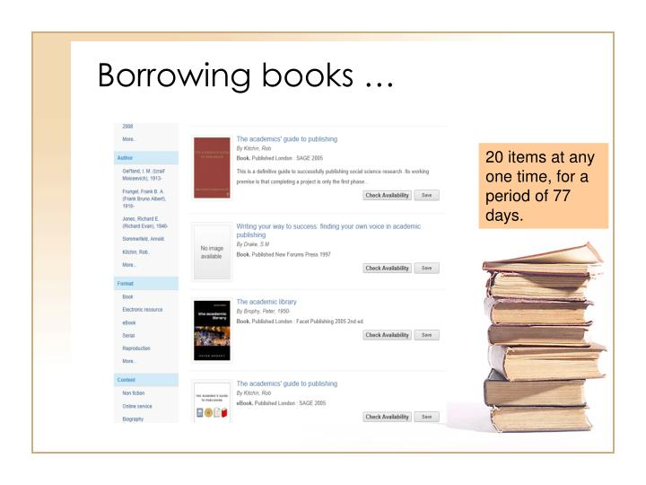 Borrowing books …