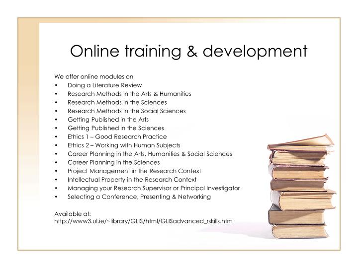 Online training & development
