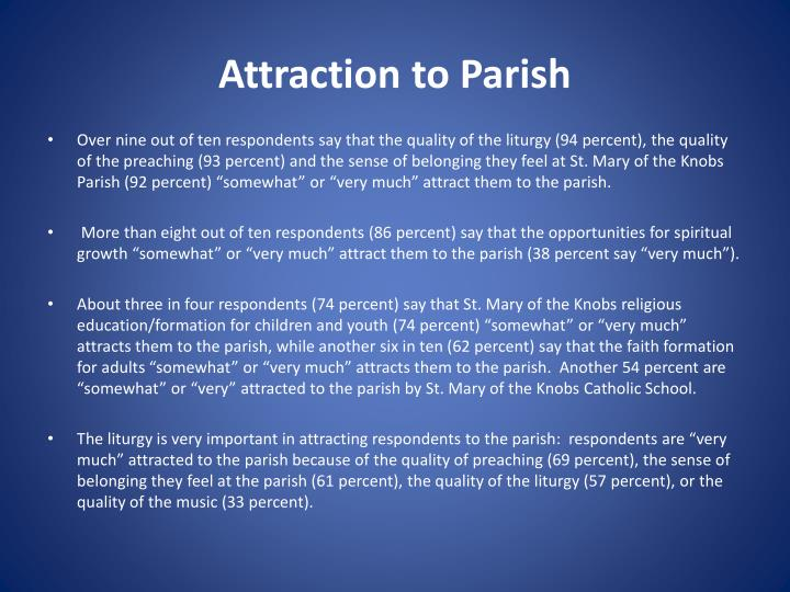 Attraction to Parish