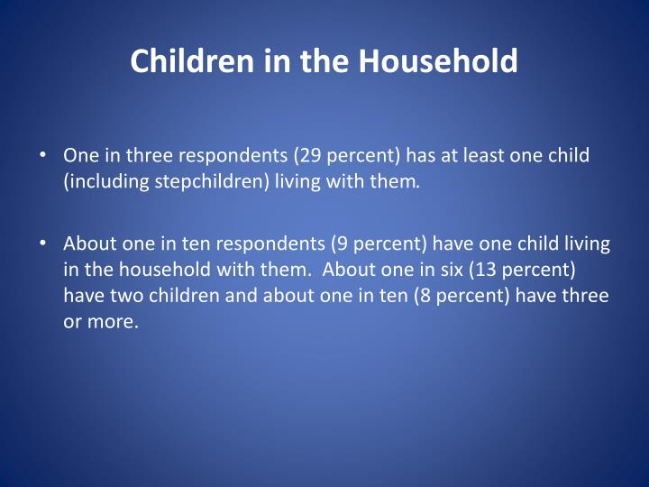 Children in the Household