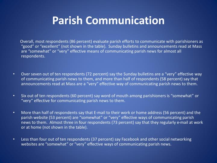 Parish Communication