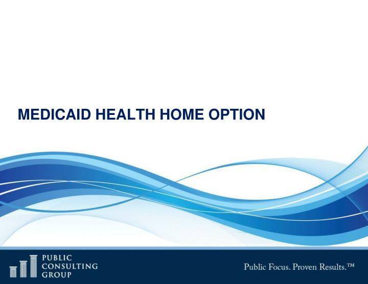 MEDICAID HEALTH HOME OPTION