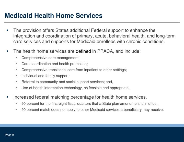 Medicaid Health Home Services