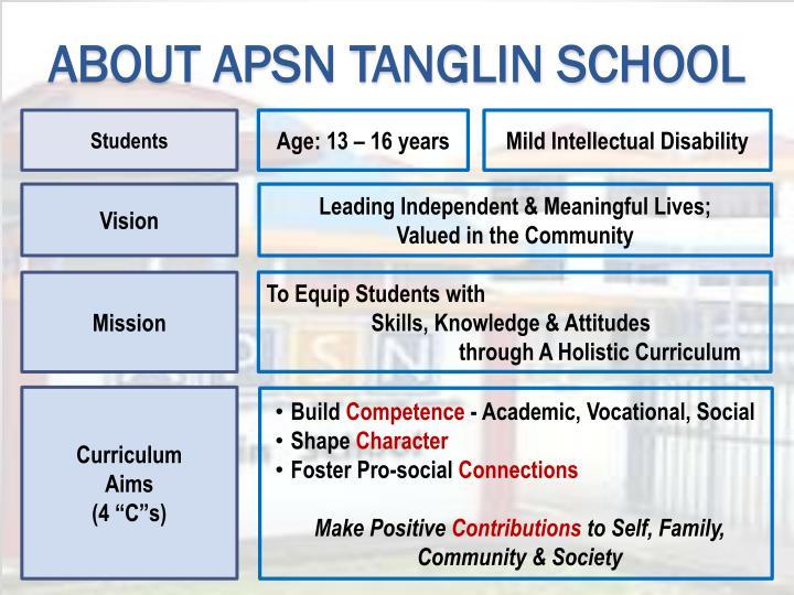 ABOUT APSN TANGLIN SCHOOL