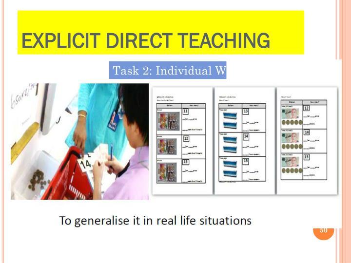 Explicit Direct Teaching