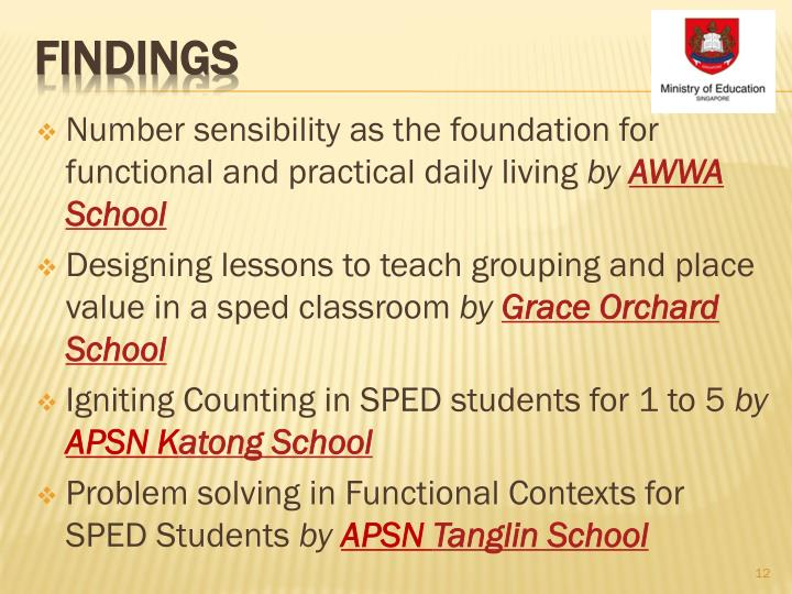Number sensibility as the foundation for functional and practical daily living