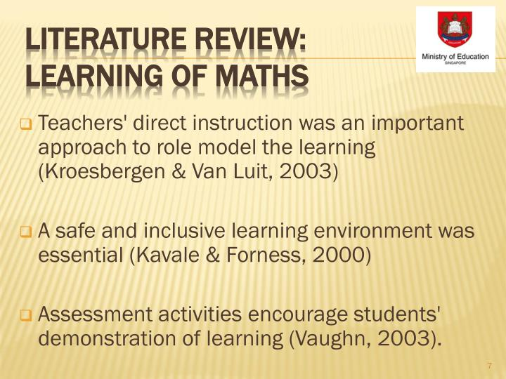 Teachers' direct instruction was an important approach to role model the learning (