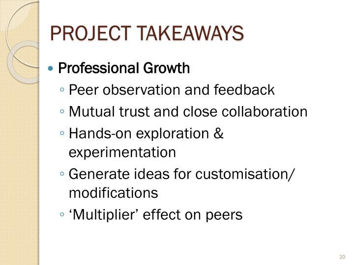Project Takeaways