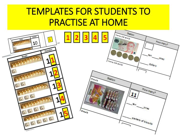 TEMPLATES FOR STUDENTS TO PRACTISE AT HOME
