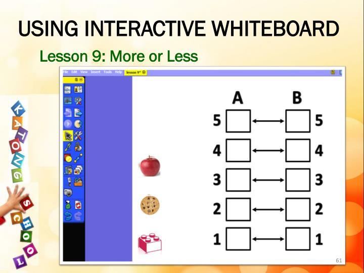 USING INTERACTIVE WHITEBOARD