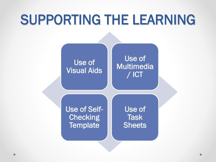 SUPPORTING THE LEARNING