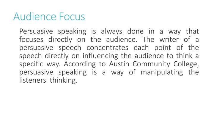 Audience Focus