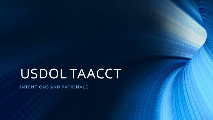 USDOL TAACCT