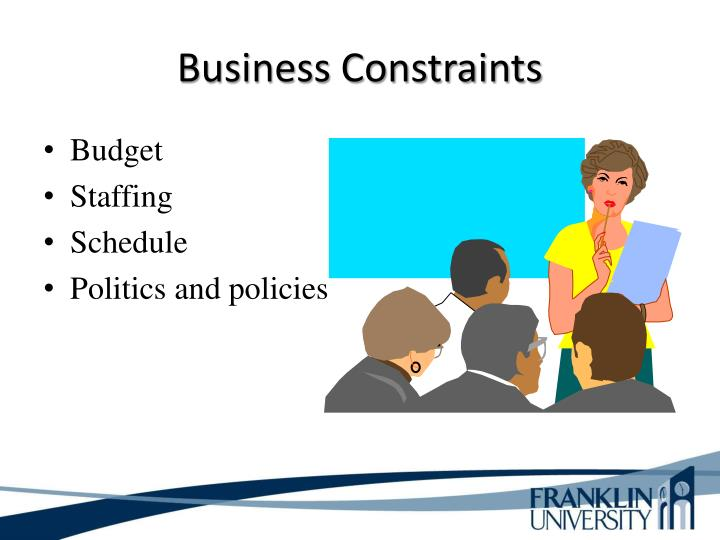 Business Constraints