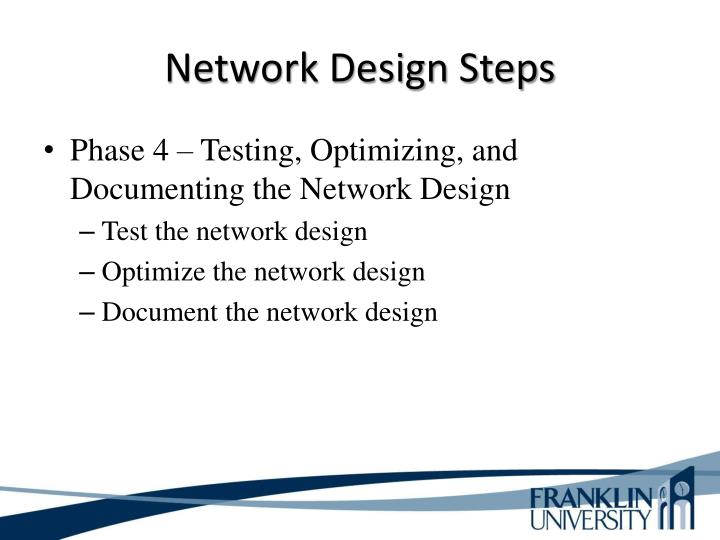 Network Design Steps