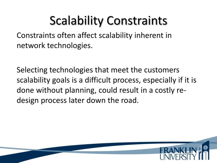 Scalability Constraints