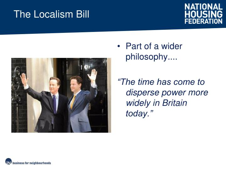The localism bill