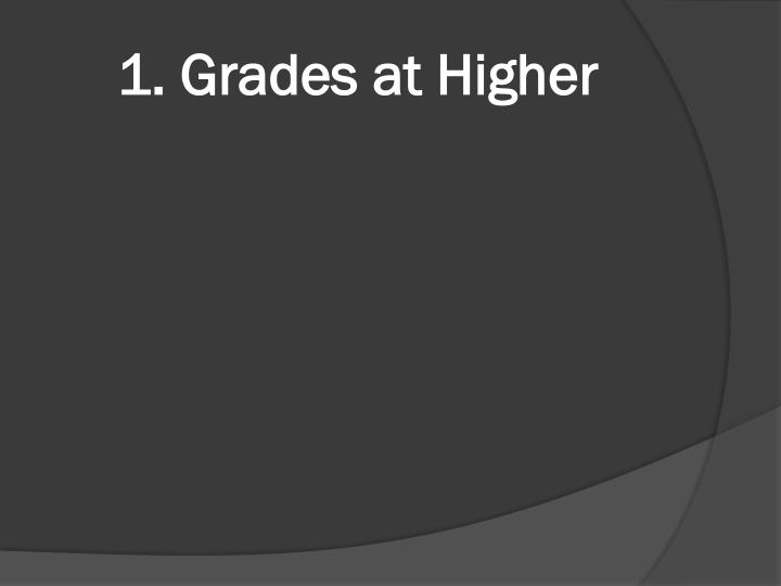 1. Grades at Higher
