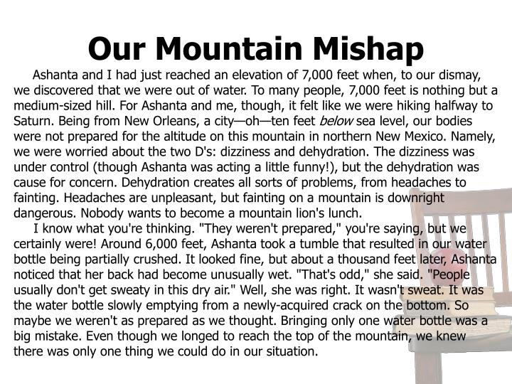 Our Mountain Mishap