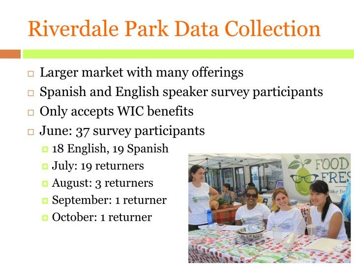 Riverdale Park Data Collection