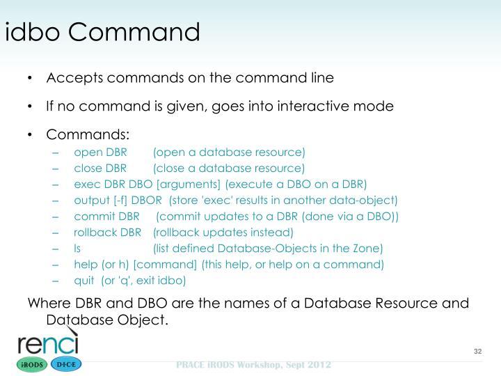 idbo Command