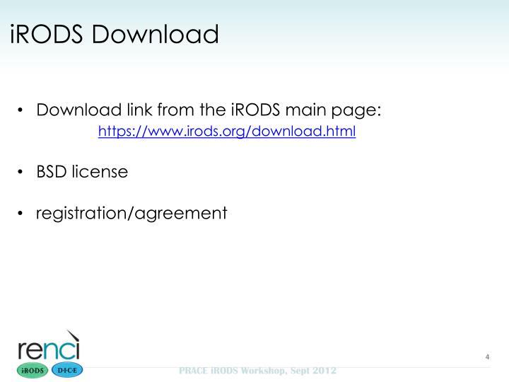 iRODS Download