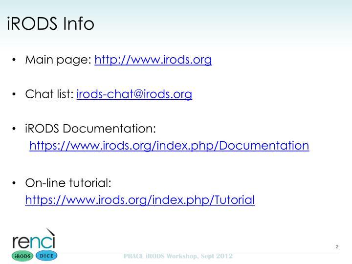 iRODS Info