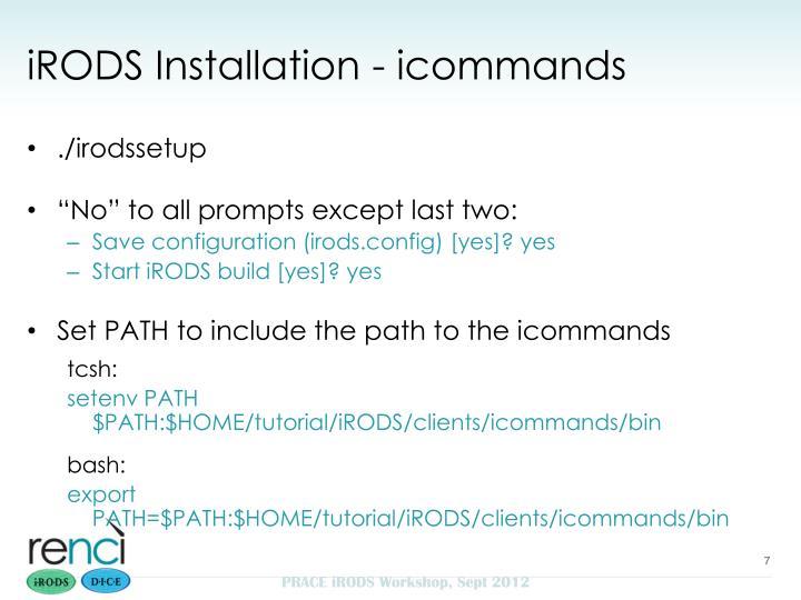 iRODS Installation - icommands