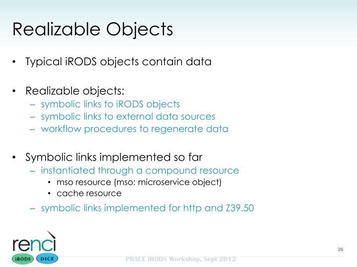 Realizable Objects