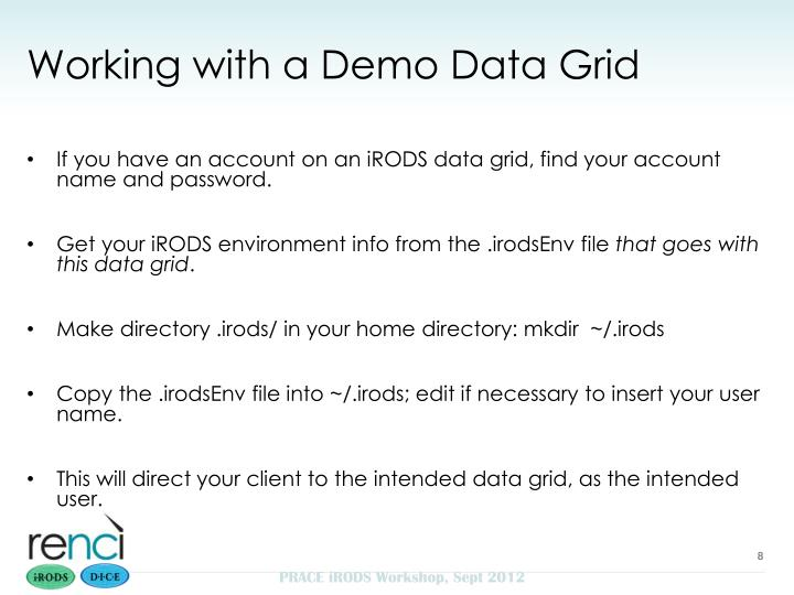 Working with a Demo Data Grid
